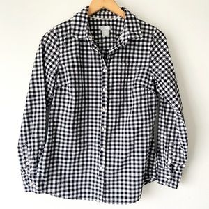 Joe Fresh Checkered button up shirt size M
